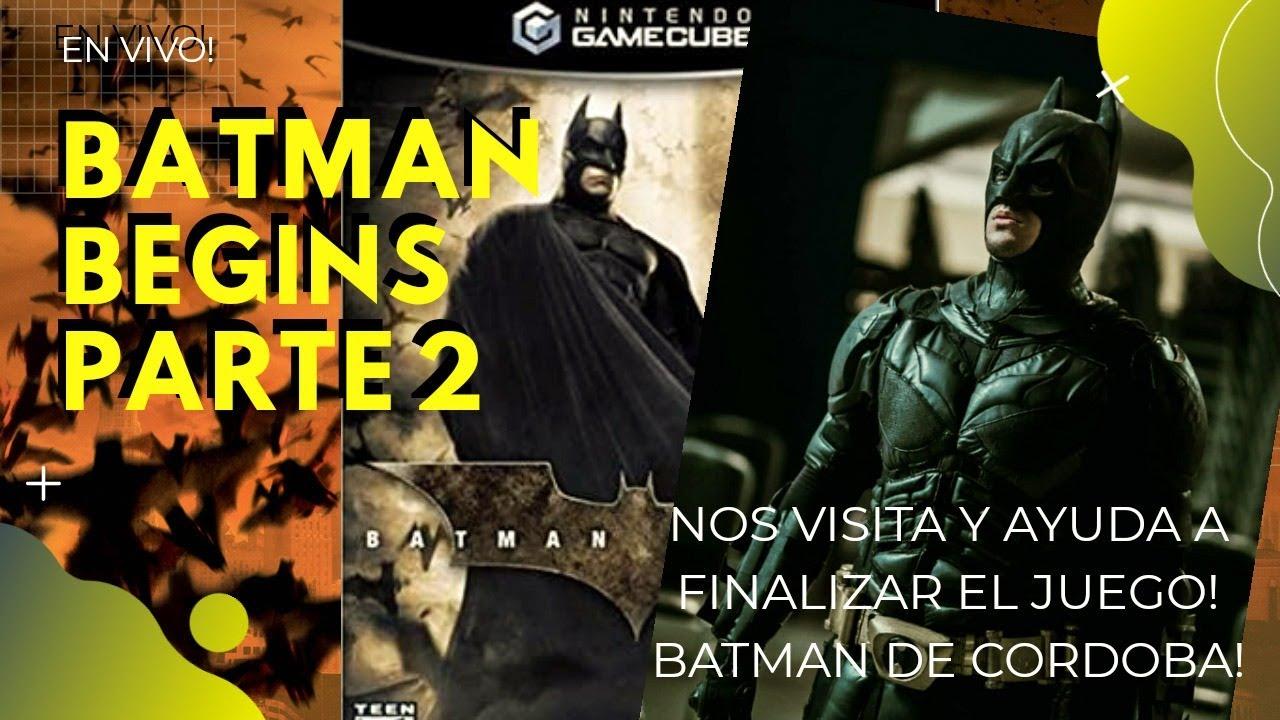EN VIVO: Nos visita BATMAN DE CORDOBA y jugamos BATMAN BEGINS (2005) - PARTE 2