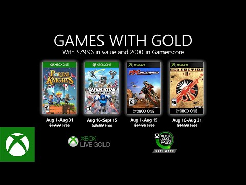 Xbox - August 2020 Games with Gold