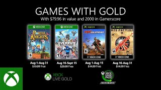 Xbox   August 2020 Games With Gold