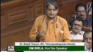 Dr. Shashi Tharoor on housing for fisherman