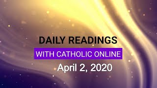Gambar cover Daily Reading for Thursday, April 2nd, 2020 HD