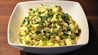 Sałatka z zielonego groszku i jajka