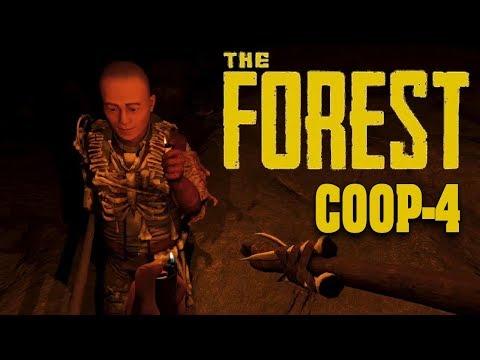Выживаине вчетвером The Forest! Баги в форесте и лут пещеры