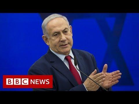 Israeli PM Netanyahu whisked away amid sirens - BBC News