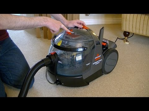 Bissell Hydroclean Complete Dry Vacuuming Demonstration