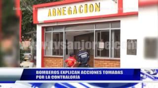 BOMBEROS EXPLICAN ACCIONES TOMAS POR CONTRALORÍA