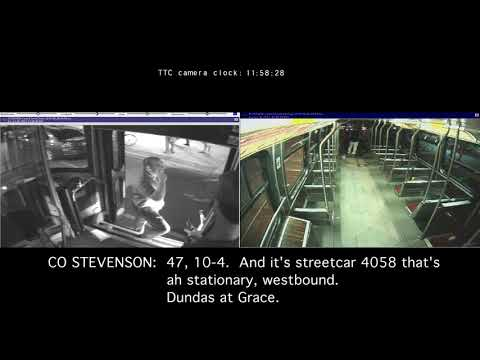 Forcillo Trial: Security footage synchronization with transcript - 2 TTC cameras, TPS radio...