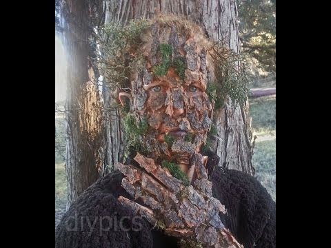 Tree Camouflage Makeup With Fauxtex Camuflagem De Arvore