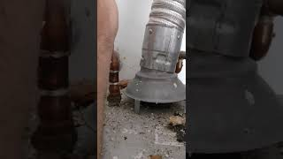 Unsafe Water Heater Flue Vent
