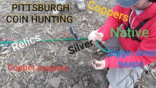 Metal detecting with the Copper poppers & Diggin deep beeps.  VANQUISH, NOX, E TRAC