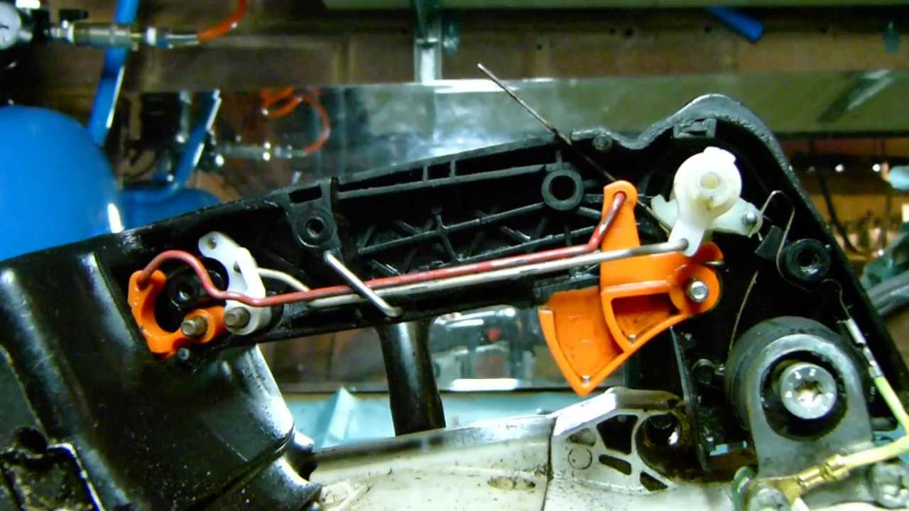 stihl ms200t 020t chainsaw look inside throttle linkages and switch also show why would not turn