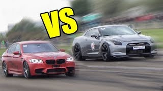 BMW M5 F10 vs Nissan GTR R35 vs Porsche 911 Turbo S - RACE!