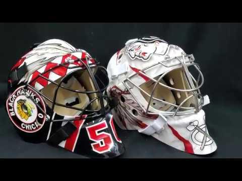Corey Crawford Signed Tribute Goalie Masks Youtube