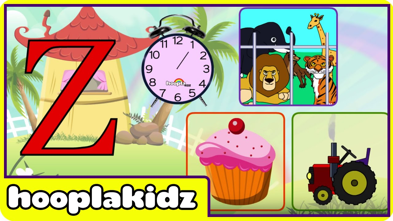 Learn About The Letter Z   Preschool Activity   YouTube
