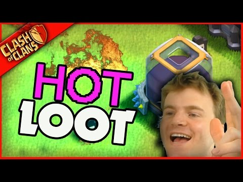 I FOUND THE HOT Clash of Clans LOOT (its way too hot!)