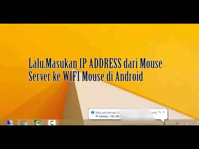 Cara Mengubah Smartphone Android menjadi Mouse PC