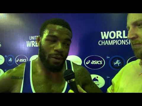 Jordan BURROUGHS (USA): Interview after his Bronze Medal in the 2014 World Championship in Tashkent