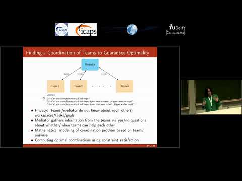 "ICAPS 2018: Zeynep G. Saribatur on ""Finding Optimal Feasible Global Plans for Multiple Teams ..."""
