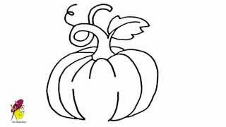 Pumpkin - How to draw Pumpkin - Fruits and Vegetables