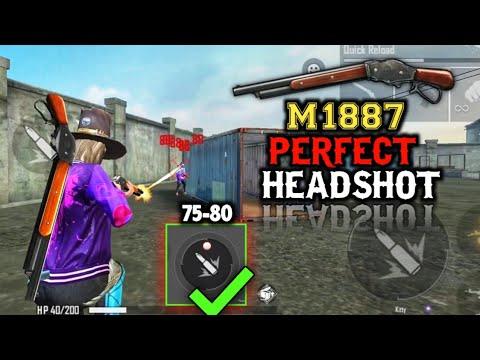 M1887 Perfect One Tap Headshot Trick Free Fire Auto Headshot Pro Tips And Tricks