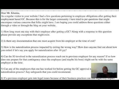 Leaving an Employer after Approval of Green Card | US Immigration