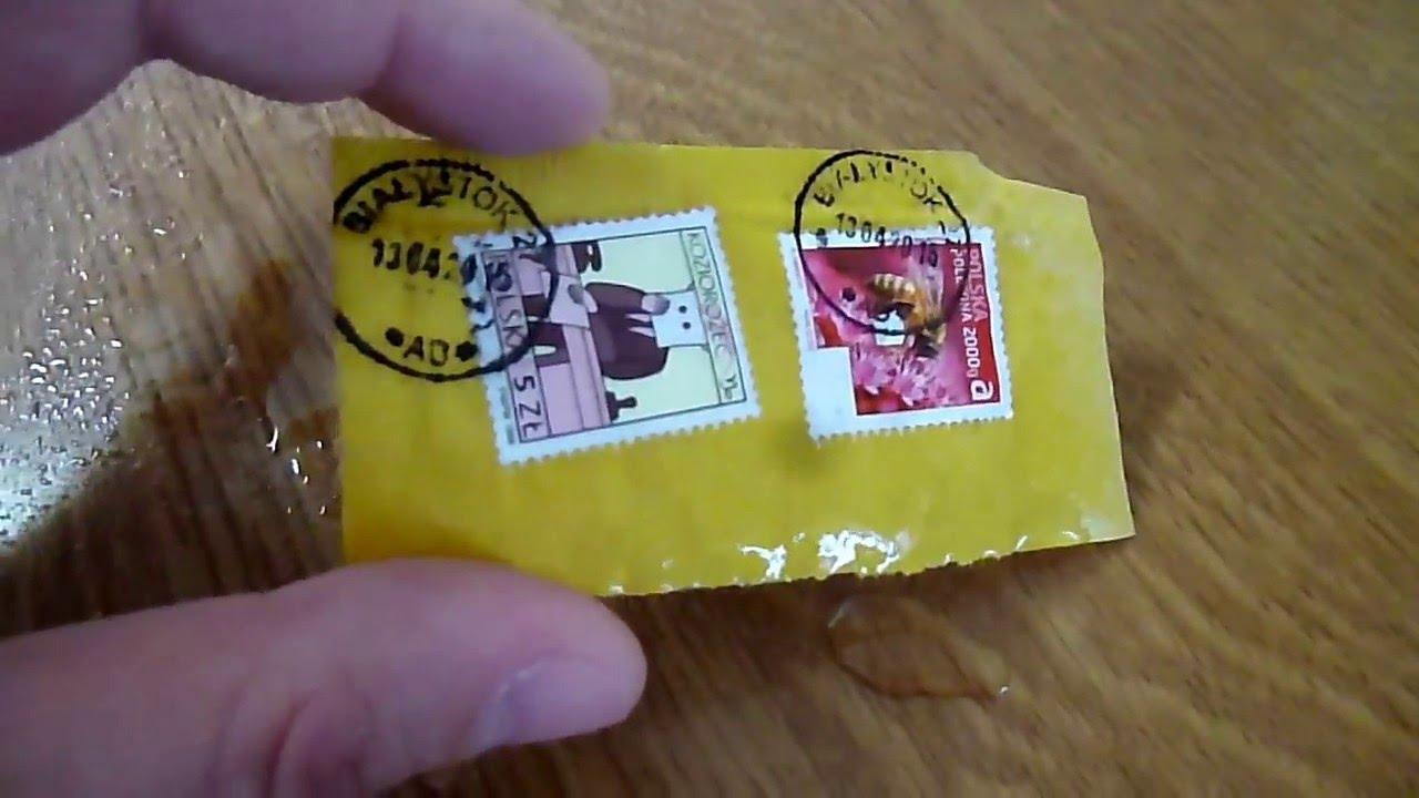 Как отклеить марку от конверта для коллекции подписи монет в альбоме