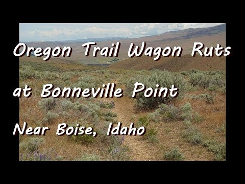 Oregon Trail Wagon Ruts at Bonneville Point, Idaho