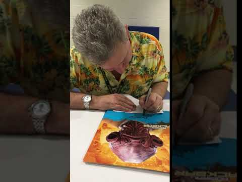 Tim Rose aka Admiral Ackbar signing for Zobie Productions!