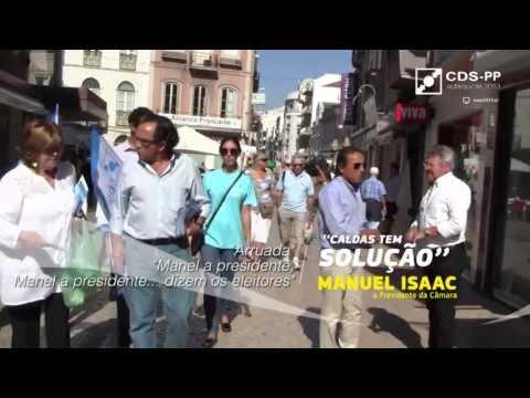 """Autárquicas 2013 - Manuel Isaac - Arruada em Nossa Senhora do Pópulo - """"Manel a presidente!"""""""