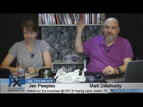Atheist Experience 20.33 with Matt Dillahunty and Jen Peeples