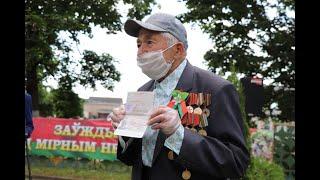 Ветеран Великой Отечественной войны Иван Игнатьевич Комар отметил 100-летний юбилей (Новогрудок)