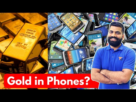 Gold in a Smartphone? Gold Recovery from Electronics!!! E Waste?