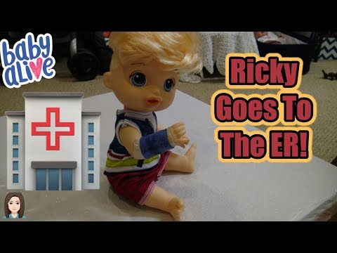 Baby Alive Ricky Goes To The ER! | Kelli Maple