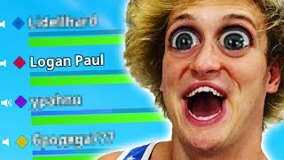 PRETENDING TO BE LOGAN PAUL IN FORTNITE BATTLE ROYALE