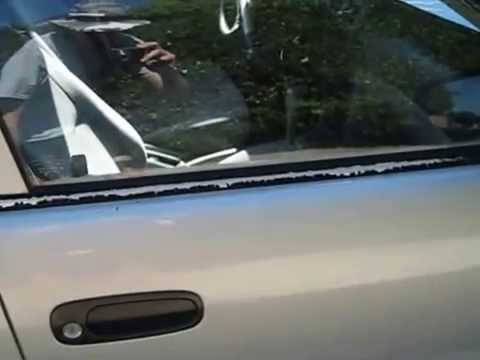How To Get Mold Out Of A Car >> 2001 Toyota Corolla Taking Off and Fixing Outside Door Window Weatherstrips Part 1 - YouTube