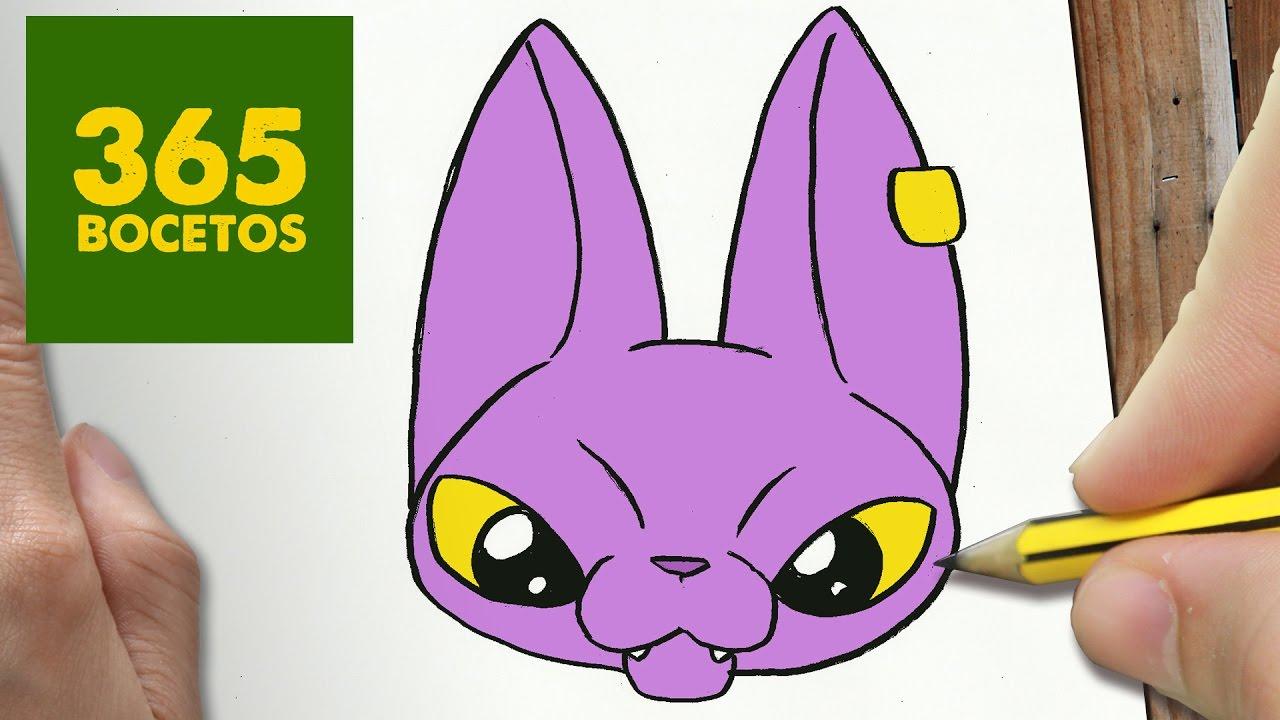 Como Dibujar Bills Dragon Ball Super Kawaii Paso A Paso Dibujos