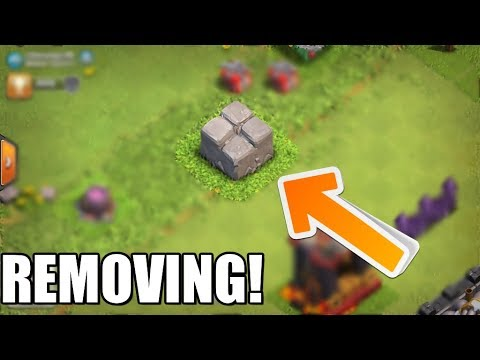 Clash of Clans - REMOVING THE OLDEST OBSTACLE EVER!