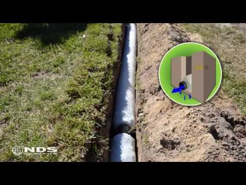 EZ Drain french drain installation: the gravel free alternat