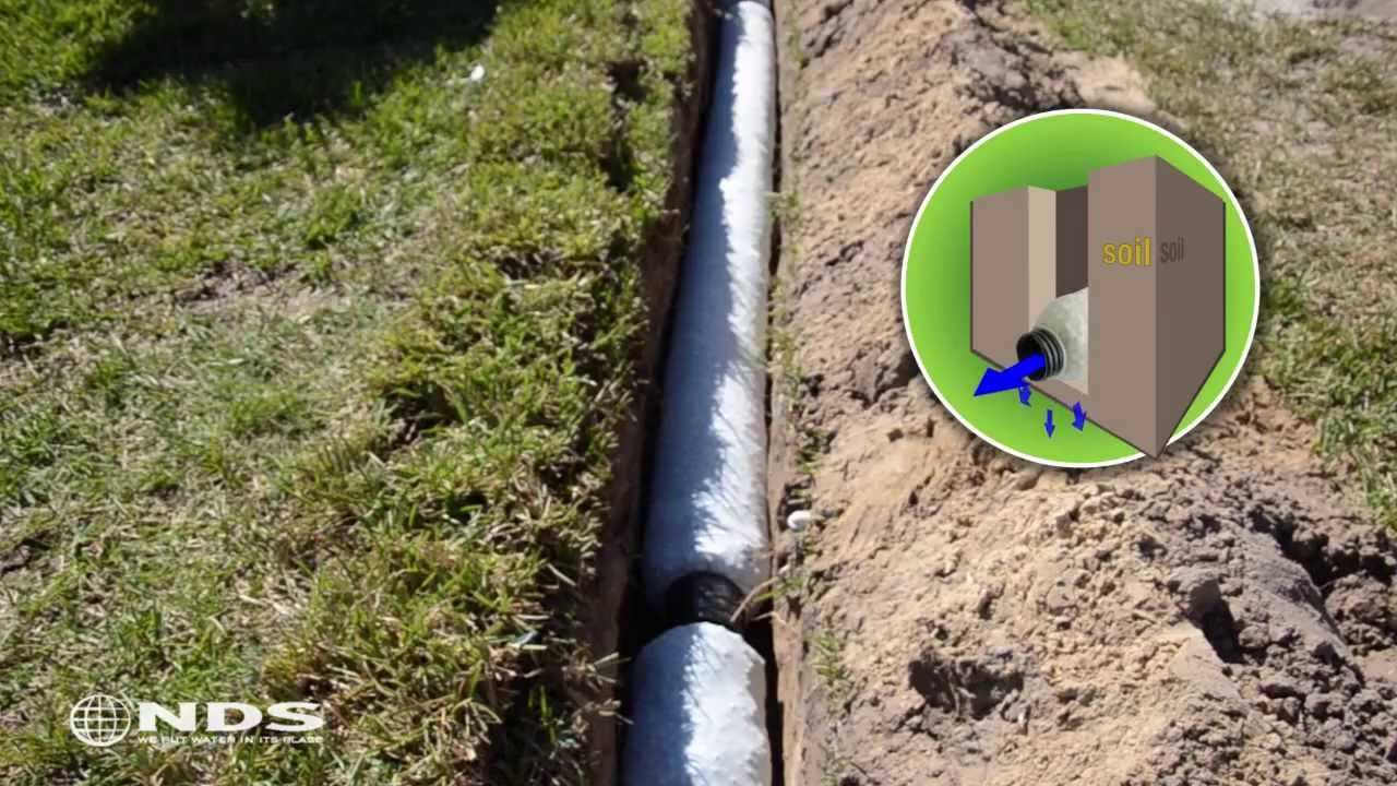EZ Drain french drain installation: the gravel free