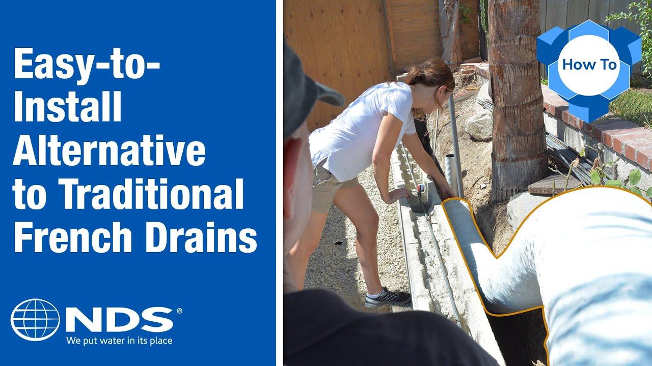 ez drain french drain installation the gravel free alternative