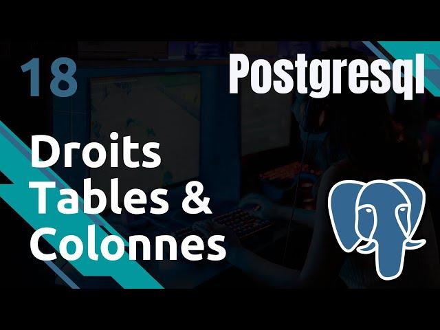PostgreSQL - 18. Droits : Tables et Colonnes | tutos fr