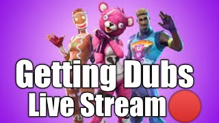 Getting dubs in fortnite| Live #18