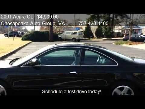 2001 acura cl 3 2cl type s for sale in chesapeake va. Black Bedroom Furniture Sets. Home Design Ideas