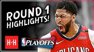 Anthony Davis Full ROUND 1 Highlights vs Portland Trail Blazers | All GAMES - 2018 Playoffs