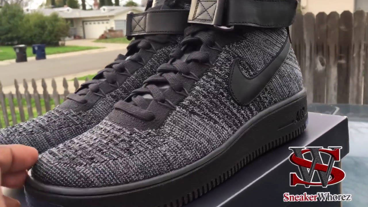 nike flyknit 4 nike air force one black high