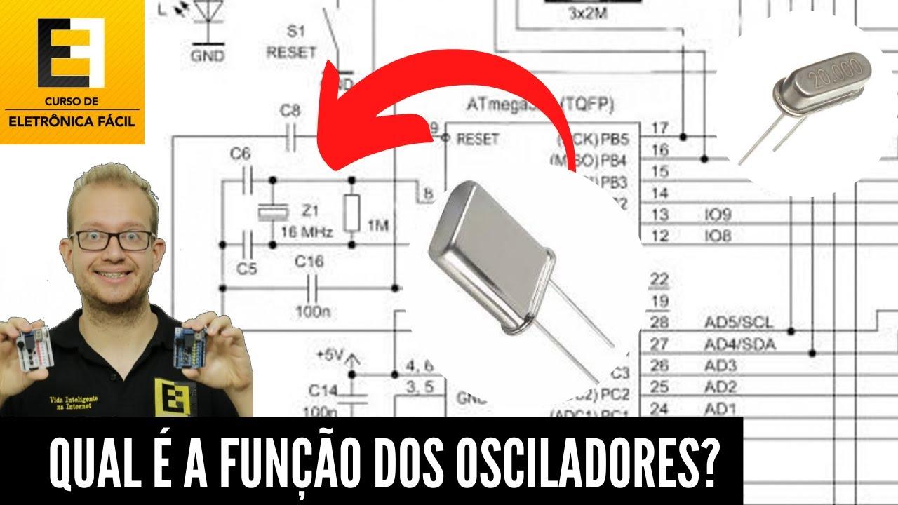 Osciladores a Cristal para Microcontroladores - Qual é a sua Real função? Eletrônica Fácil