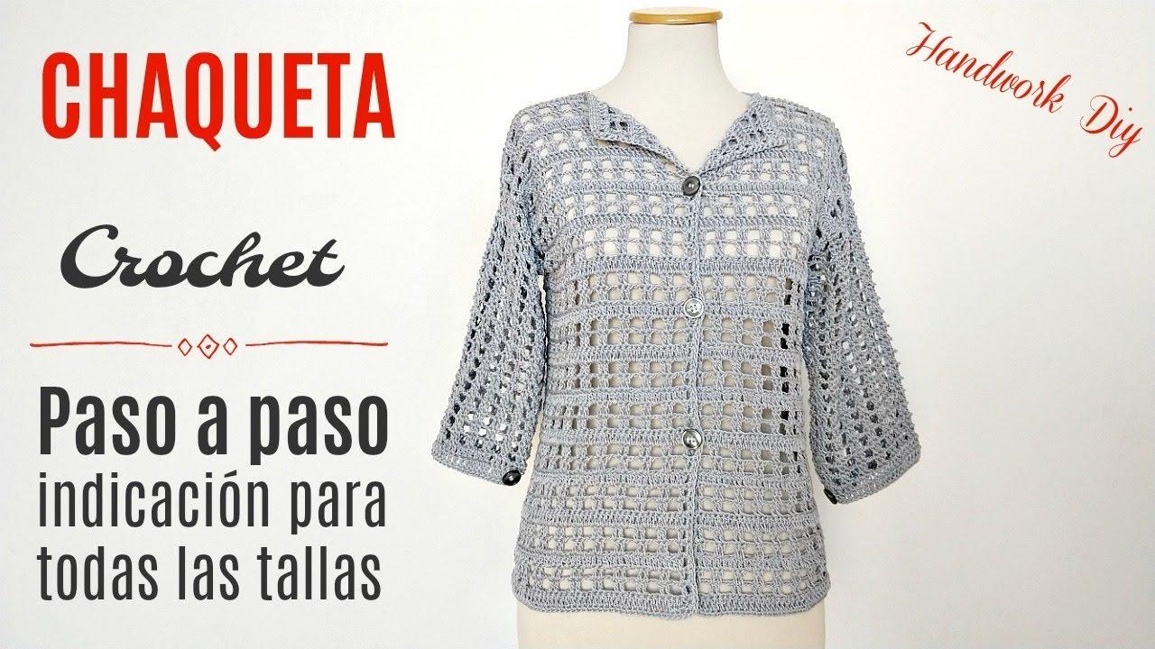 Cómo Tejer Chaqueta Saco A Crochet By Handwork Diy Artsil Tricô E Crochê Youtube