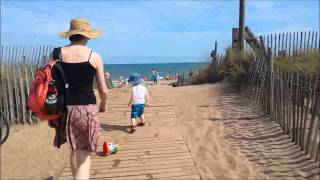 Walking to the beach at Serignan!