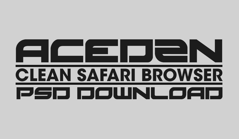 Safari Clean Browser Template Psd Download Youtube