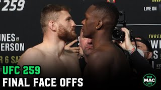 UFC 259: Israel Adesanya vs. Jan Blachowicz Final Face Offs